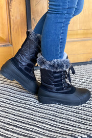 Snowfall Boots: Black - ShopSpoiled