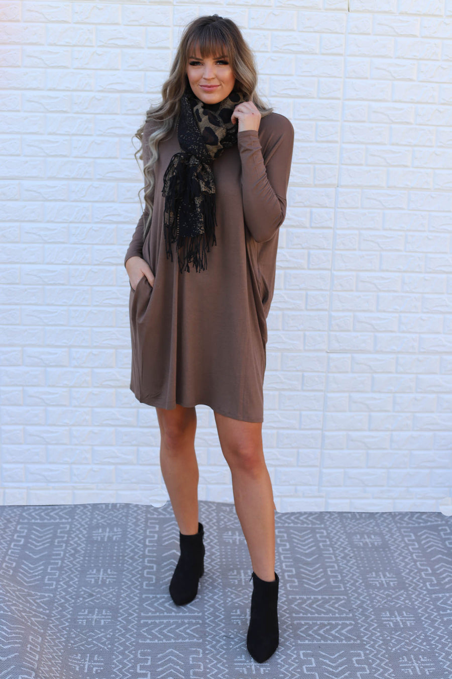Leah Dress: Tobacco - ShopSpoiled
