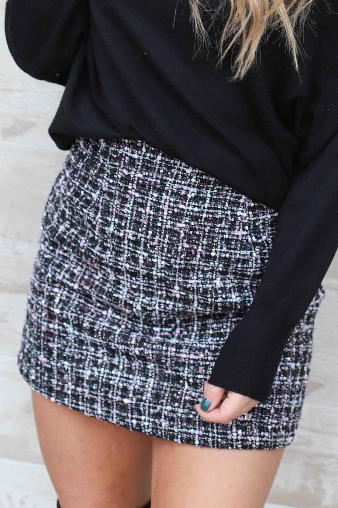 Jordyn Tweed Skirt - ShopSpoiled