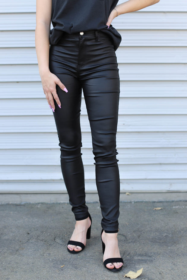 Lola Faux Leather Pants - ShopSpoiled