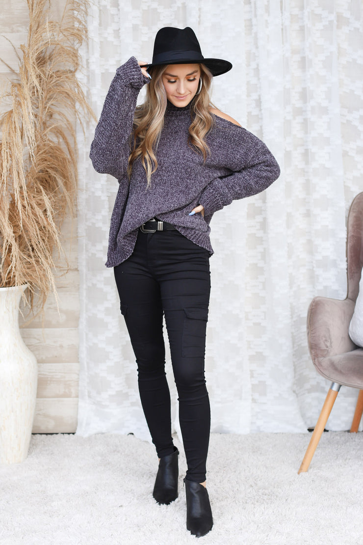 Lyanna Sweater: Charcoal - ShopSpoiled