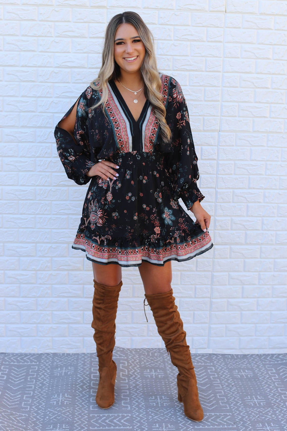 Bailey Printed Dress - ShopSpoiled