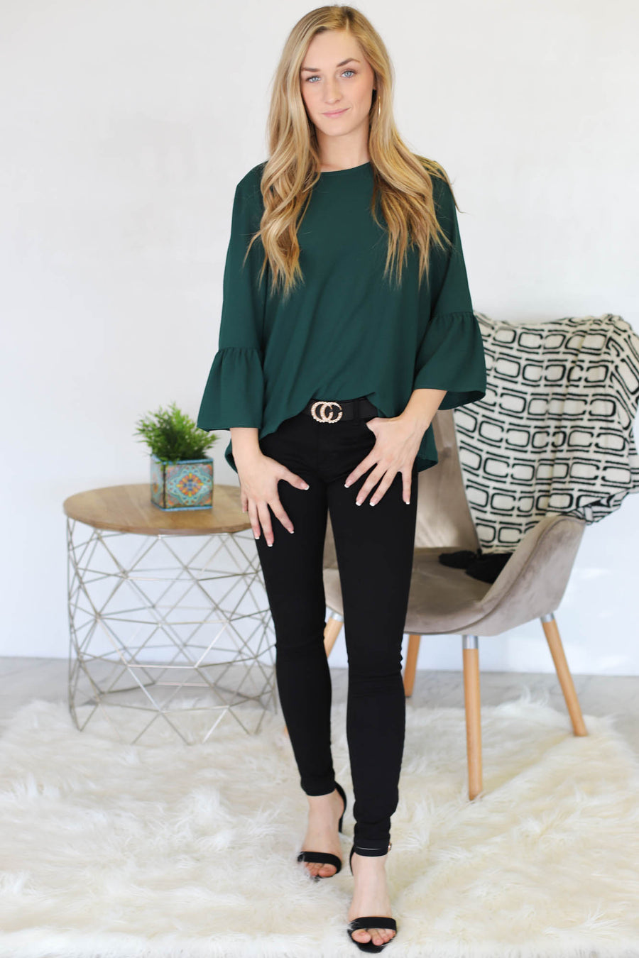 Kaitlyn Top: Green - ShopSpoiled