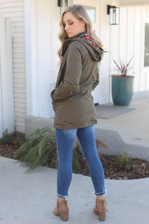 More My Scene Jacket: Olive - ShopSpoiled