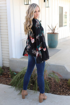 Go With The Flow Top: Black - ShopSpoiled