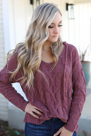 Gianna Pullover: Mauve - ShopSpoiled