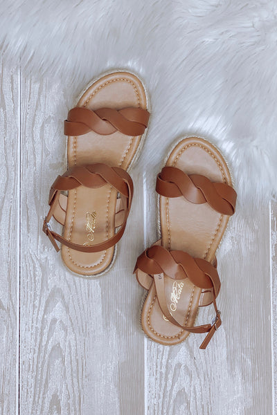 Danniela Platform Sandals: Tan - ShopSpoiled