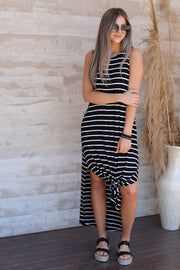 Outside the lines maxi: black - ShopSpoiled