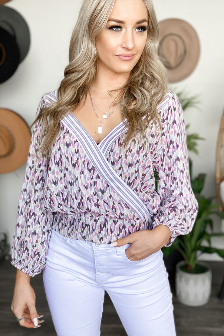 State Of Mind Top: Mauve - ShopSpoiled