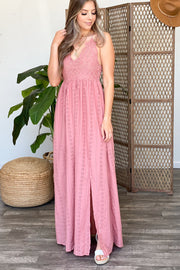 Lover of Details Maxi Dress: Mauve - ShopSpoiled