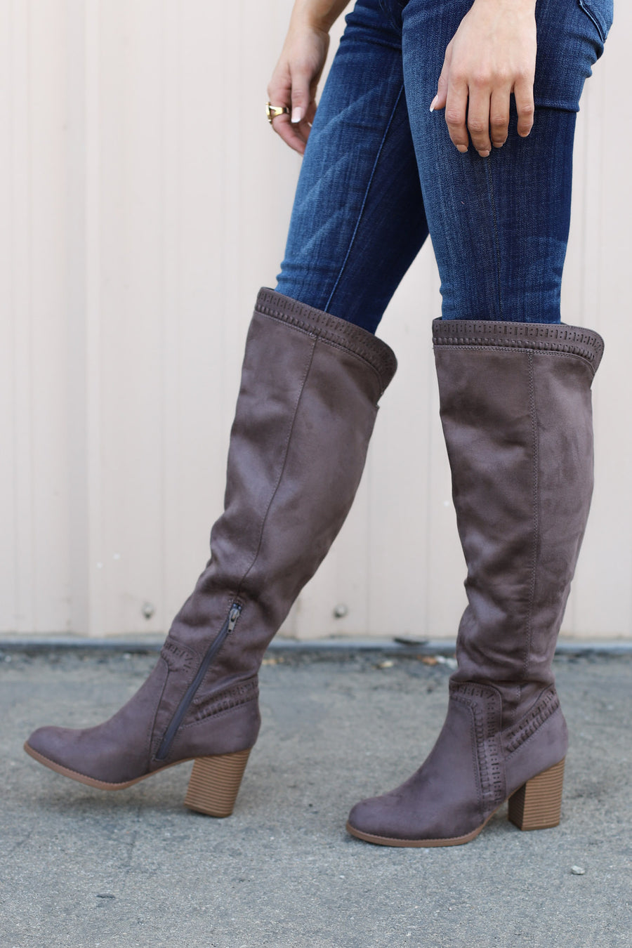 Don't Mention It Boots: Charcoal - ShopSpoiled
