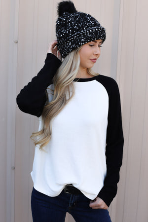 Camila Top: Black/White - ShopSpoiled