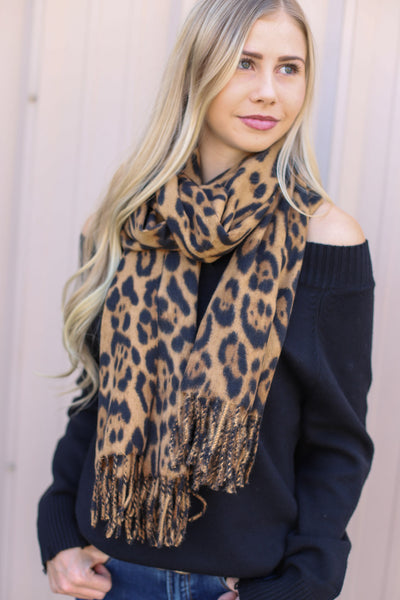 Launa Leopard Scarf - ShopSpoiled