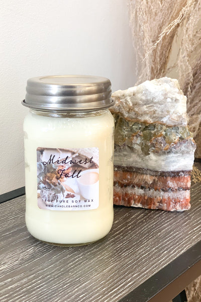 Midwest Fall Mason Jar Candle: 16oz - Shop Spoiled Boutique
