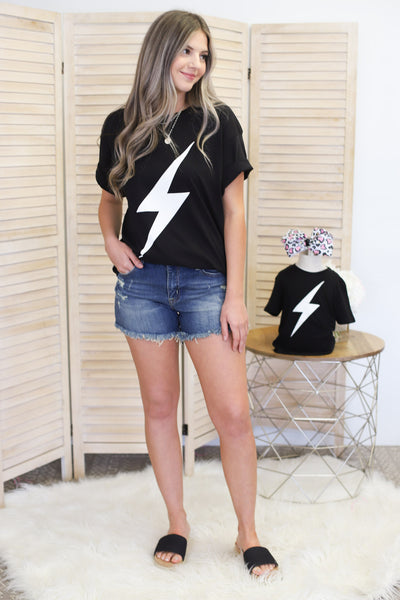 Mama Lightning Bolt Tee - ShopSpoiled