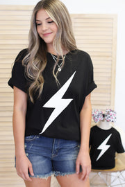Mama Lightning Bolt Tee - Shop Spoiled Boutique