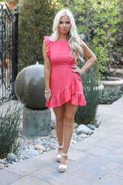 Best Chances Dress: Coral - ShopSpoiled