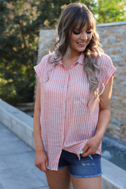 Hello Honey Top: Peach - ShopSpoiled