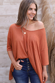 Sunset Blvd Top: Rust - ShopSpoiled
