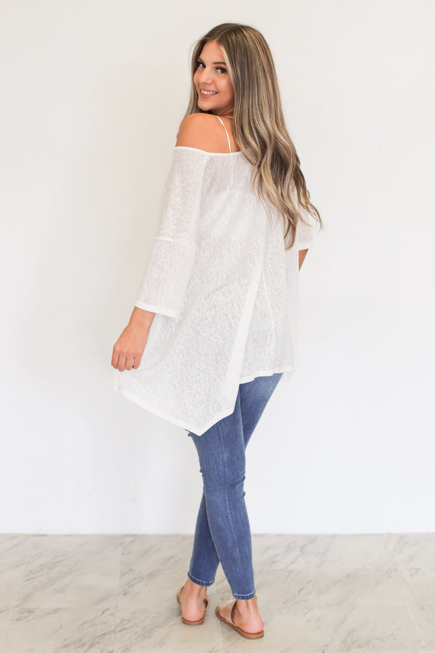 Sunset Blvd Top: Ivory - ShopSpoiled