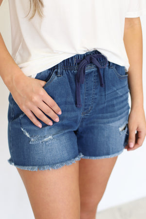 Stella Shorts: Medium Denim - ShopSpoiled