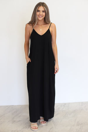 Wild Honey Maxi Dress: Black - ShopSpoiled