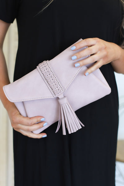 Sidewalk Stunner Clutch: Pink - ShopSpoiled