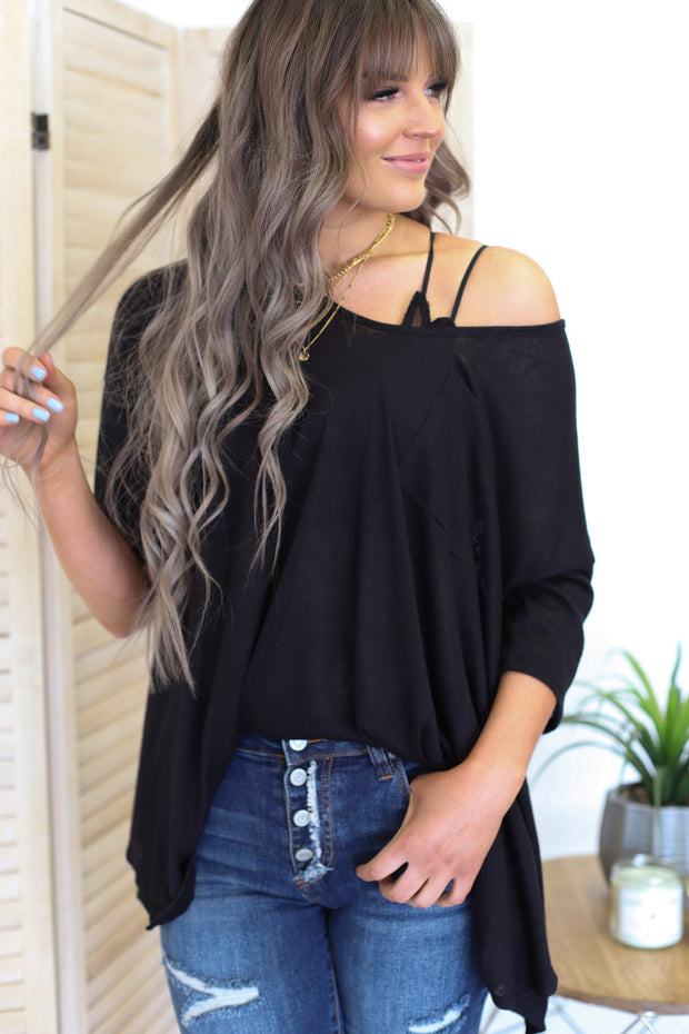 Sunset Blvd Top: Black - ShopSpoiled