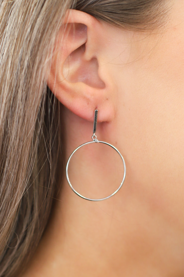 Mini Karissa Earrings: Silver - Shop Spoiled Boutique