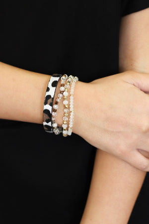 Catch Me If You Can Bracelet Set: White