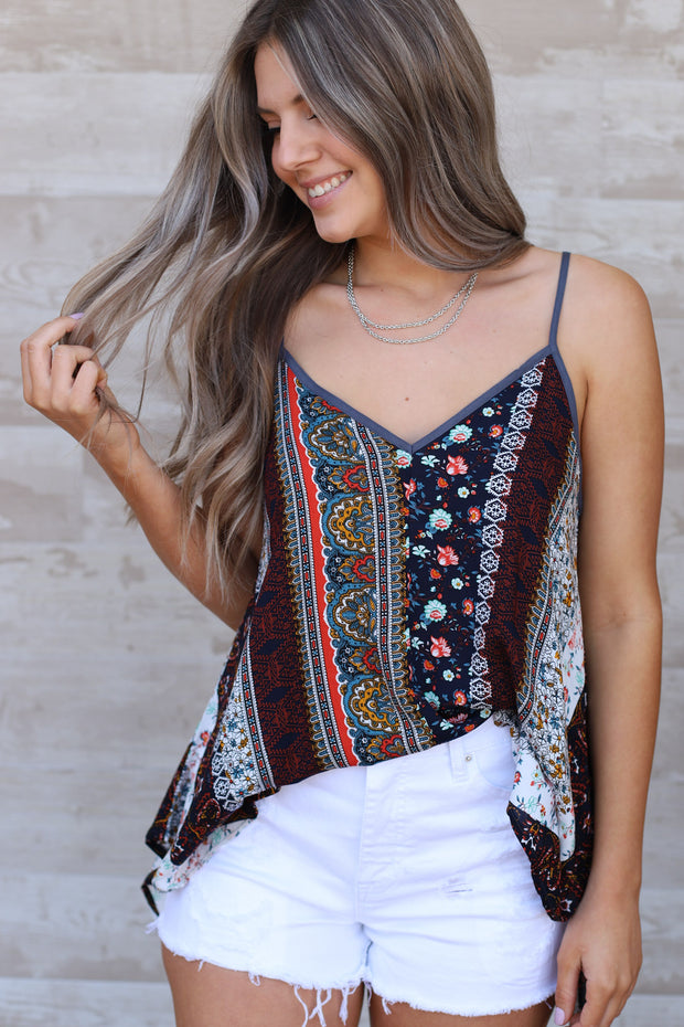 Boho Girl Top: Charcoal - ShopSpoiled
