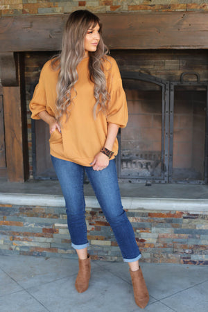 Dixie Top: Mustard - ShopSpoiled
