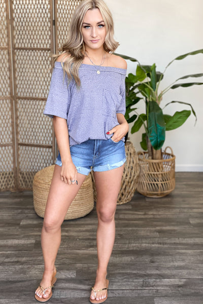 Settle Down Top: Navy - ShopSpoiled