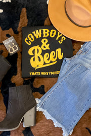 Cowboys and Beers Graphic Tee - ShopSpoiled
