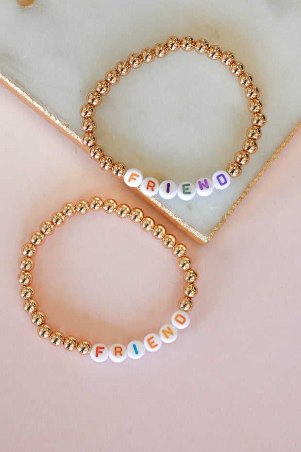 Friend Beaded Bracelet Set - Shop Spoiled Boutique