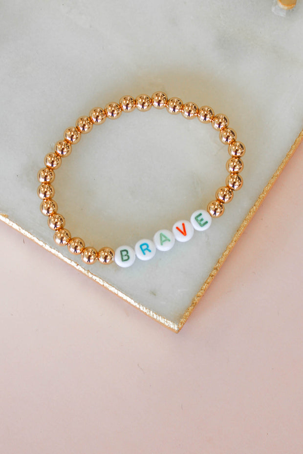 Brave Beaded Bracelet - Shop Spoiled Boutique