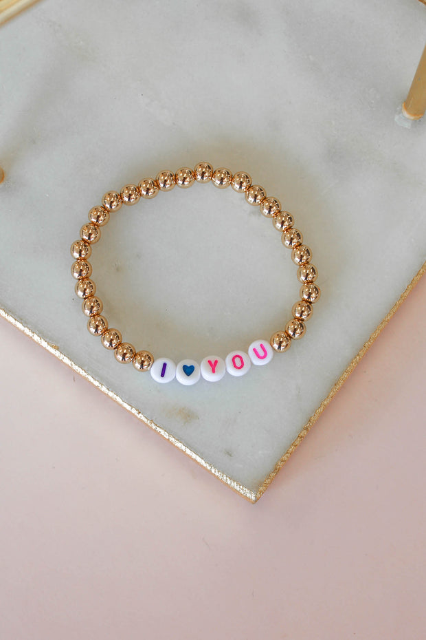 I Love You Beaded Bracelet - Shop Spoiled Boutique