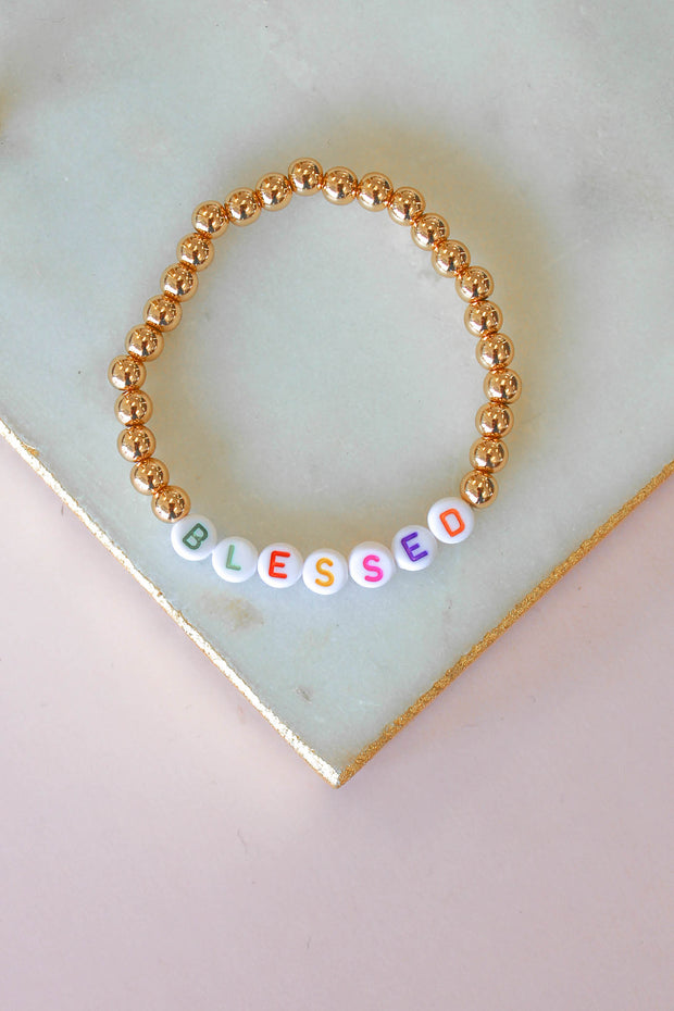 Blessed Beaded Bracelet - Shop Spoiled Boutique
