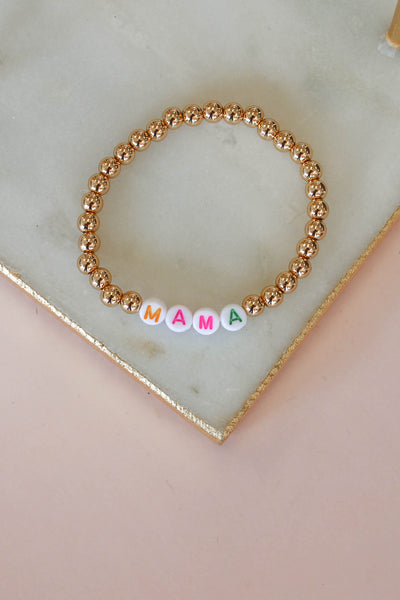 Mama Beaded Bracelet - Shop Spoiled Boutique