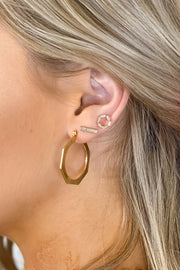 Erin Flat Hoops: Gold - ShopSpoiled