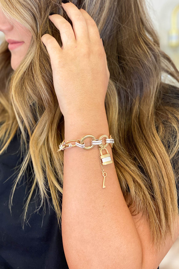 Good News Chain Bracelet: Gold - Shop Spoiled Boutique