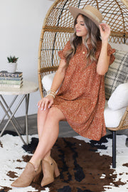 True Story Dress: Rust - ShopSpoiled