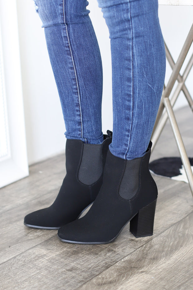 Sofia Booties: Black - ShopSpoiled