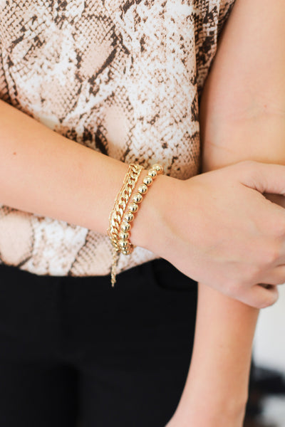 Run The World Bracelet Set: Gold