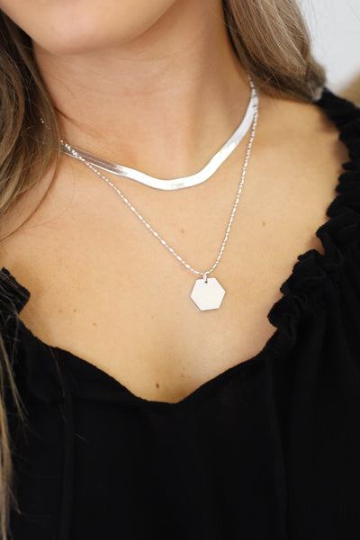 Up Your Game Necklace: Silver