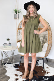Good To Be Here Dress: Olive - ShopSpoiled