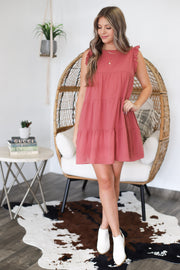 Good To Be Here Dress: Mauve