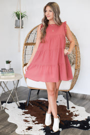 Good To Be Here Dress: Mauve - ShopSpoiled