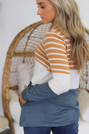 Striped to Perfection Pullover - ShopSpoiled