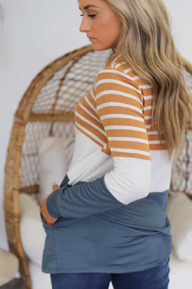Striped to Perfection Pullover